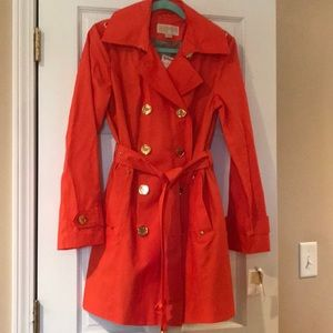 New Michael Kors Orange Trench Coat
